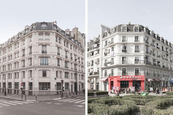 Comparação entre dois edifícios