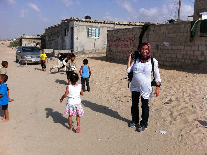 Lynsey Addario fotógrafa, na Faixa de Gaza