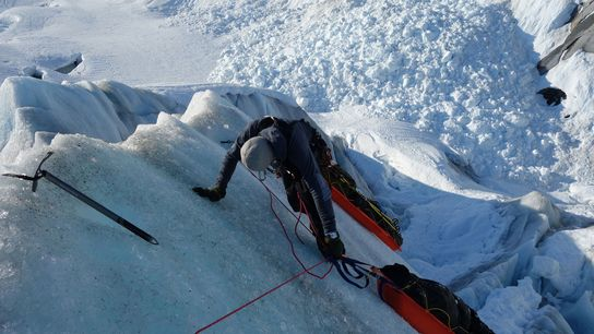 Børge Ousland, um explorador polar que atualmente está a tentar esquiar através das 20 maiores calotas ...