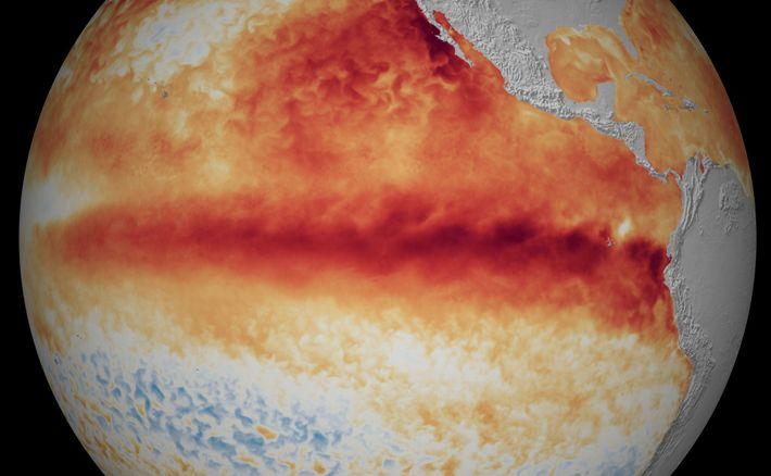 Imagem geográfica do fenómeno El Niño