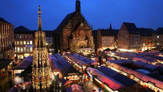 O mercado de Natal de Nuremberga realiza-se há 400 anos.