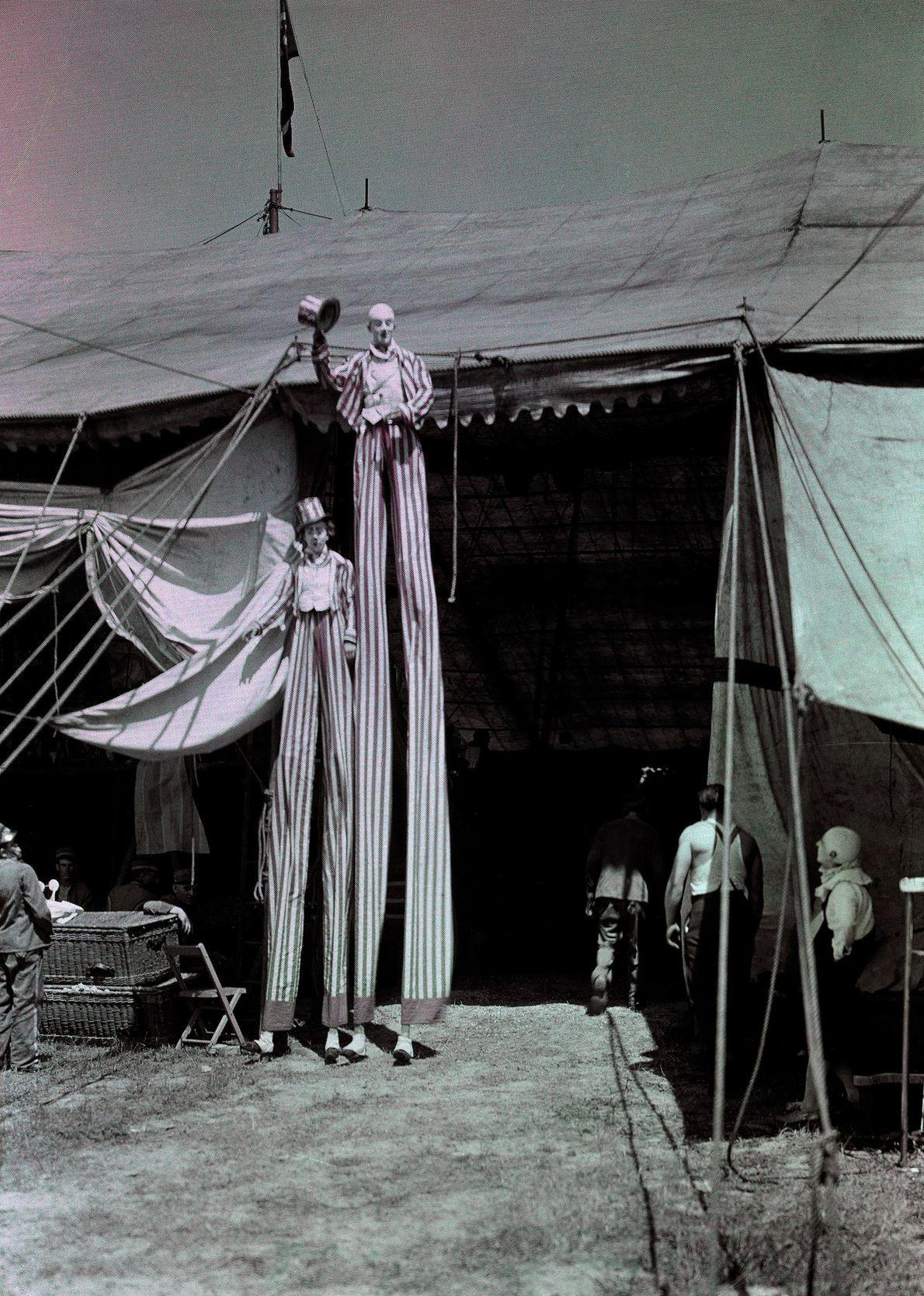Fotografias Antigas de Palhaços Estranhamente Assustadoras