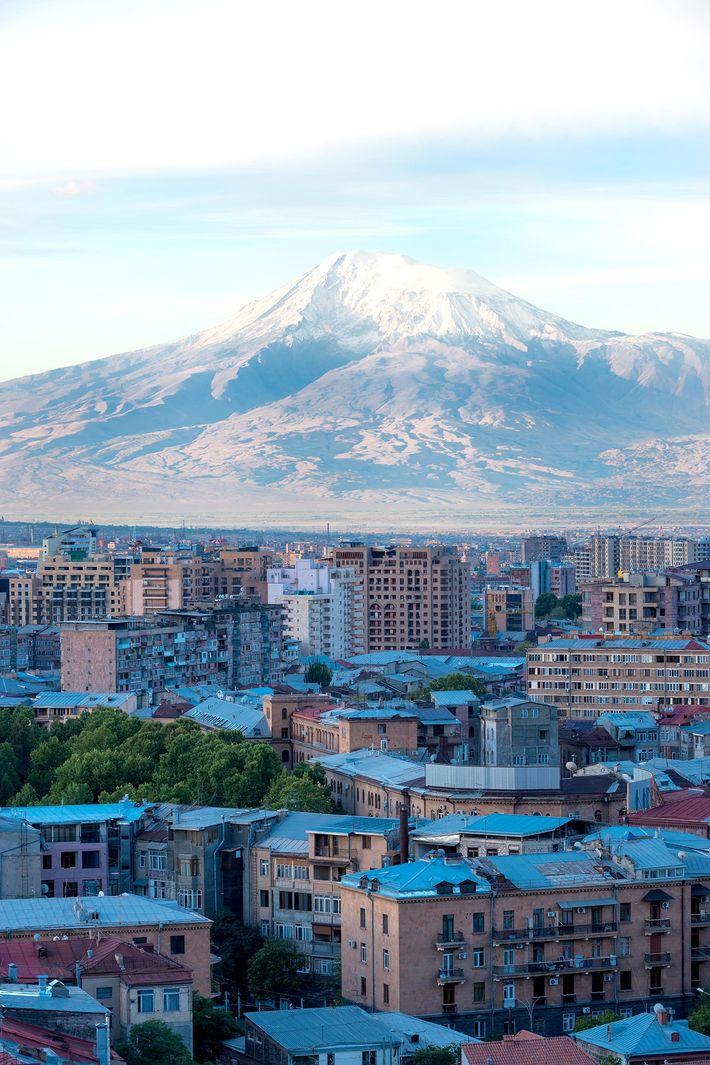 Imagem do Monte Ararat, Erevan, Arménia