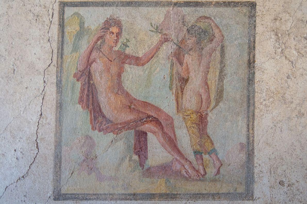 Fresco deApollo e Daphne