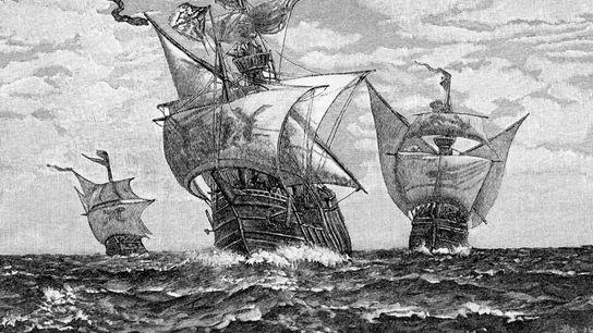 Os navios de Cristóvão Colombo