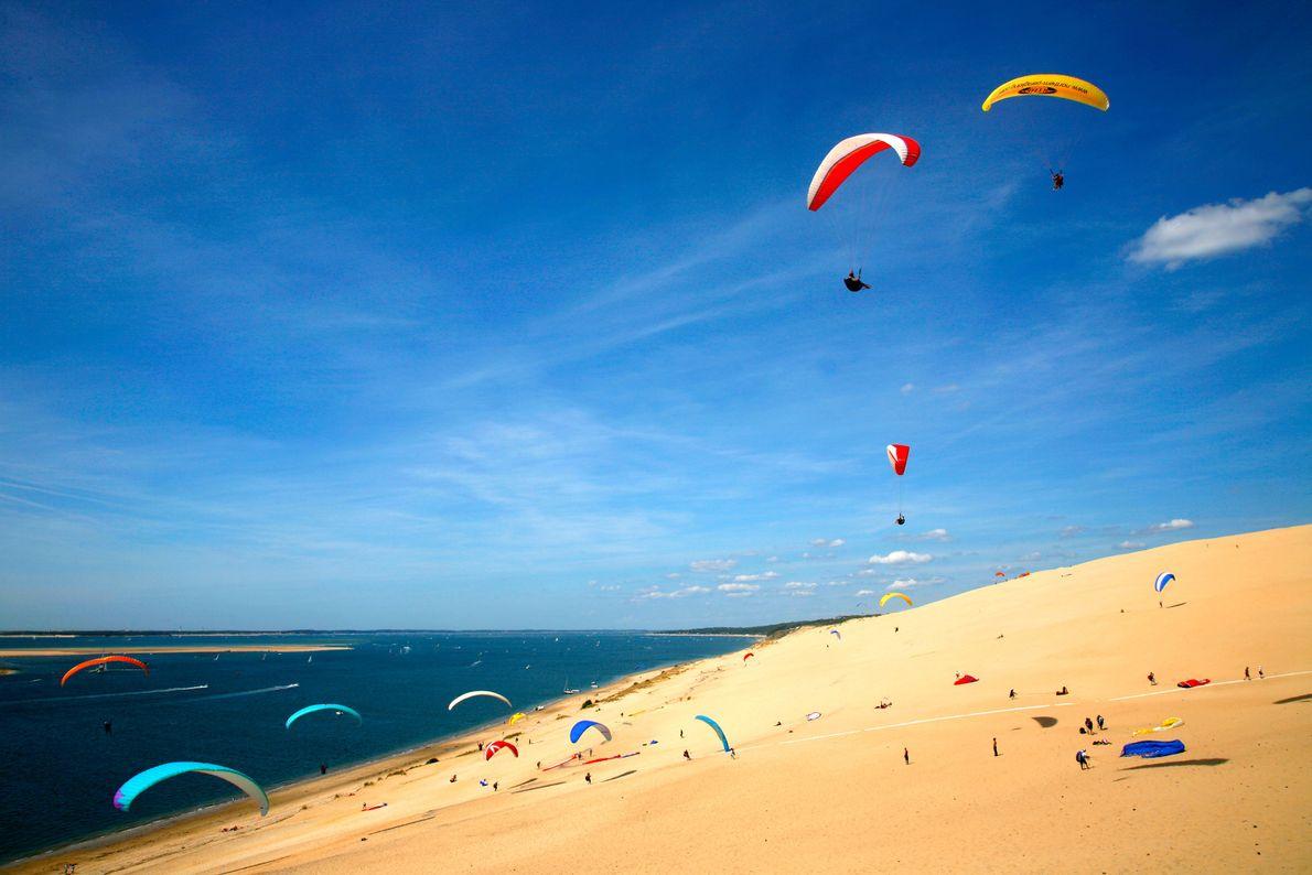 Praia de Corniche, La Teste-De-Buch, França.
