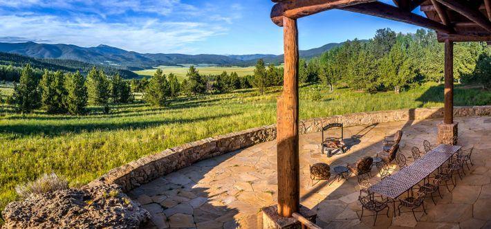 The Costilla Lodge em Vermejo Park Ranch.