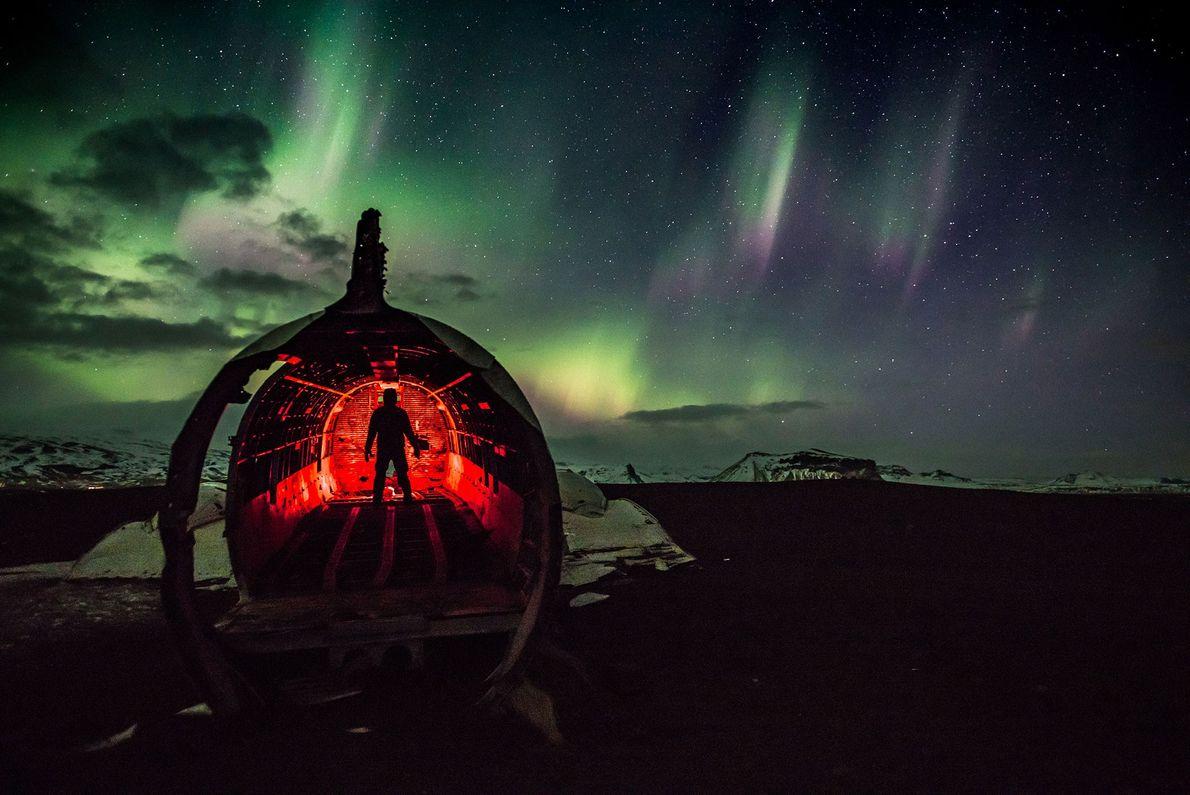 Avião abandonado na Islândia