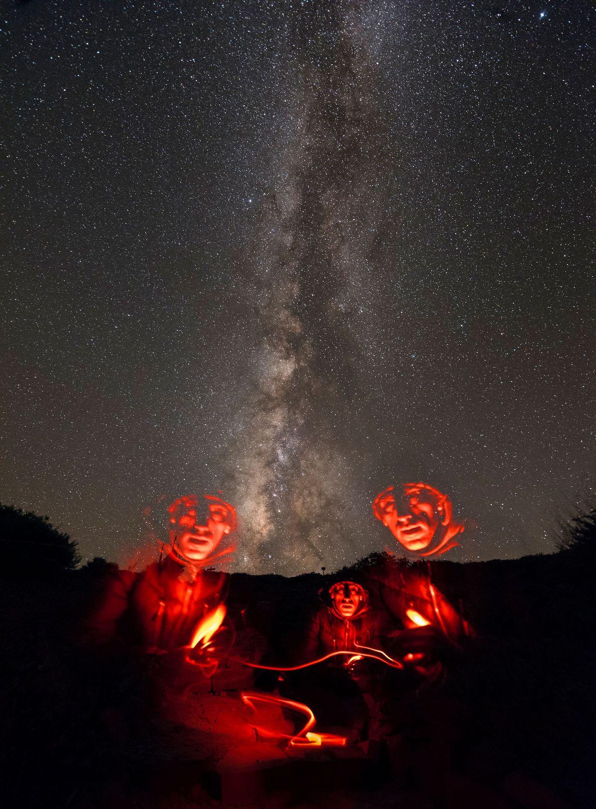 Autorretrato debaixo da via Láctea