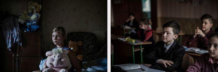 Crianças que combatem na Ucrânia