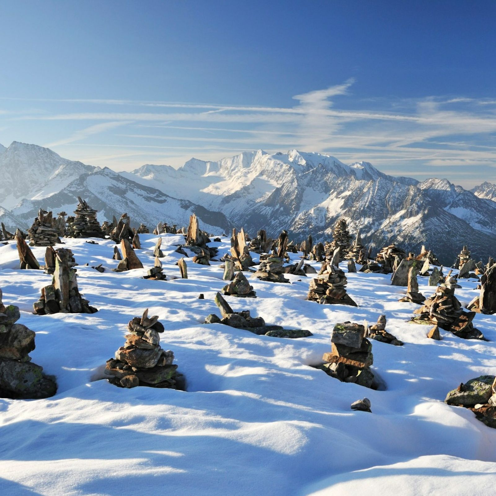 cordilheira Zillertal da Áustria