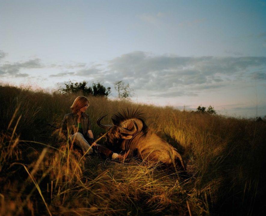 Imagem que ilustra o foco do trabalho de David Chancellor: a linha ténue entre o animal ...