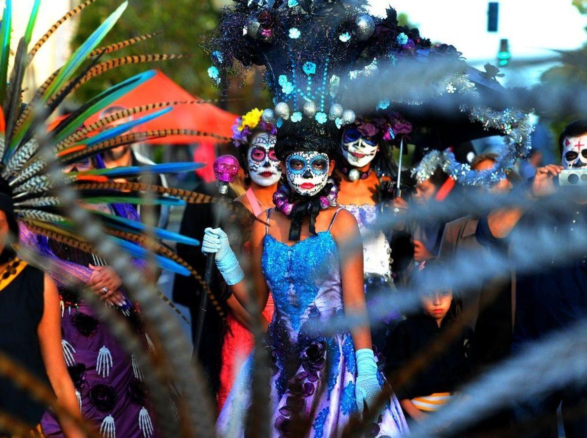 Celebração Dia de Los Muertos, na Califórnia