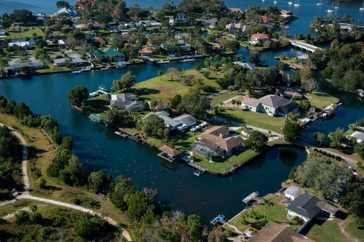 rede de canais na Flórida