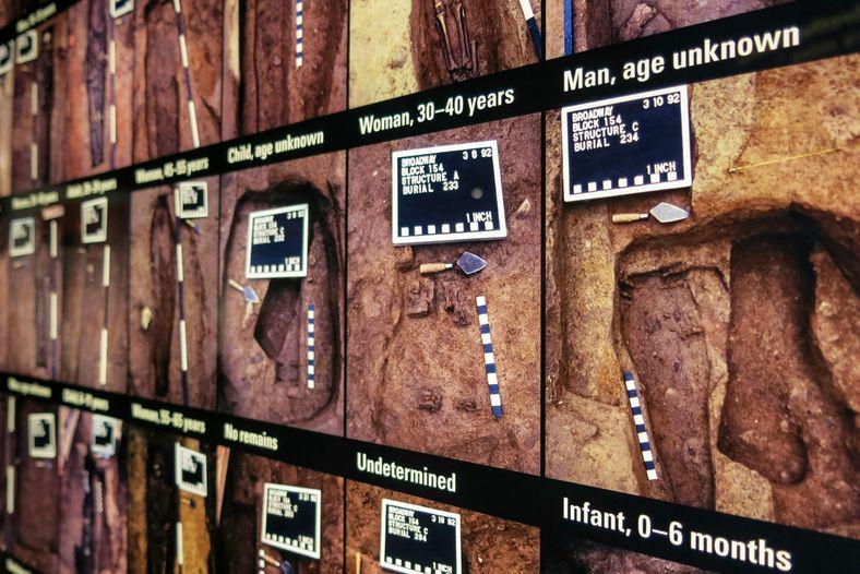Imagens da escavação do cemitério africano