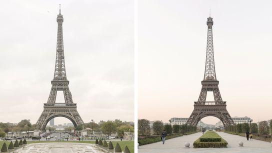 Imagem de duas Torres Eiffel