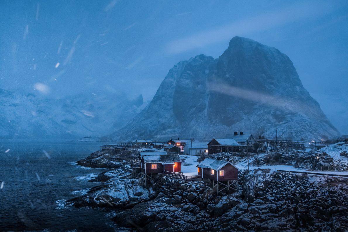 As cabanas da estância Eliassen Rorbuer