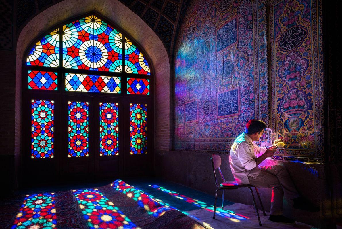 Dentro da Mesquita Cor-de-Rosa
