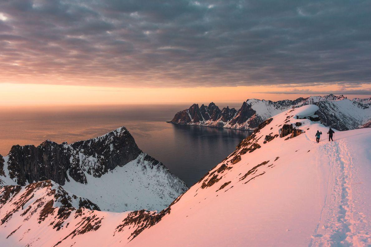 Pôr do Sol no Ártico