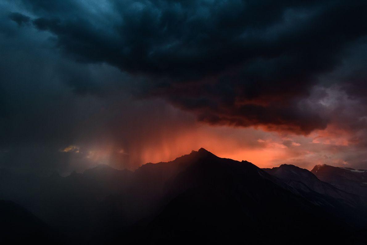 Pôr-do-sol Alpino