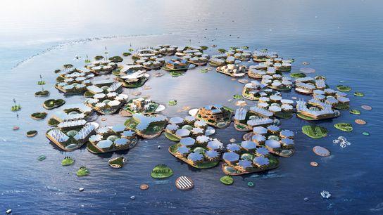 A empresa Oceanix está a propor um novo conceito modular para cidades flutuantes.