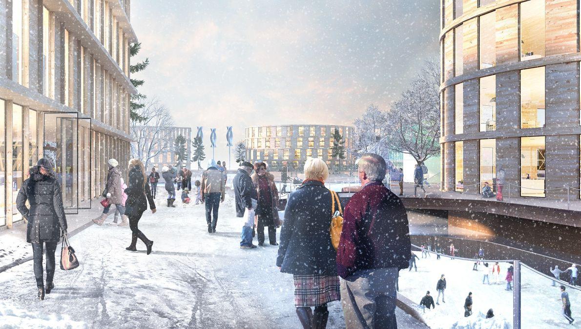 Este conceito mostra uma aplicação possível no Norte da Europa.