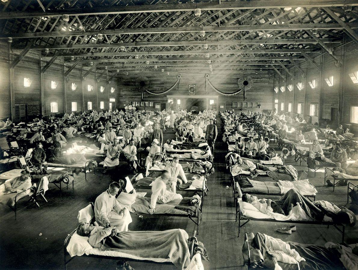 Camp Funston do Exército dos EUA, no Kansas