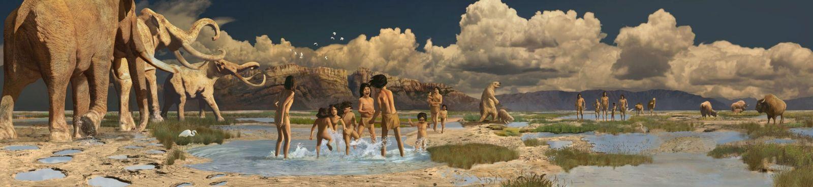 Representação do Parque Nacional de White Sands