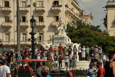 Protestos em Havana