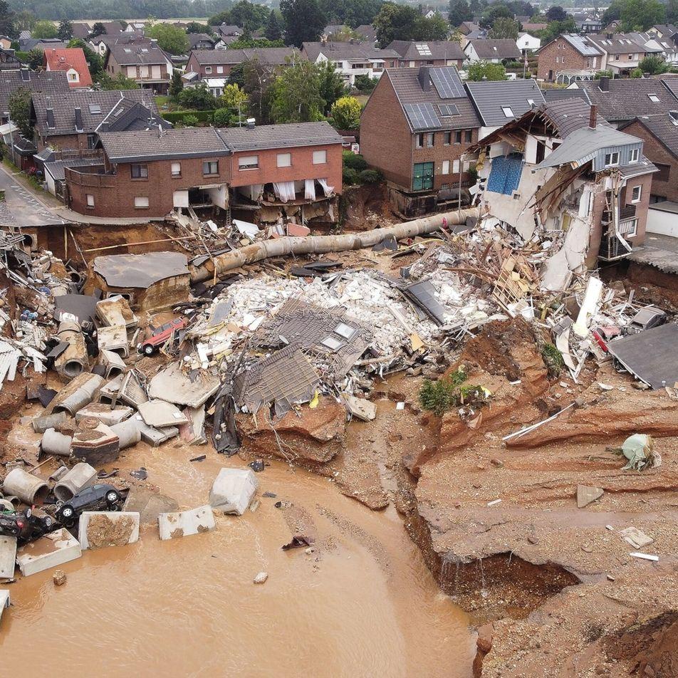Fotografias de inundações devastadoras na Europa
