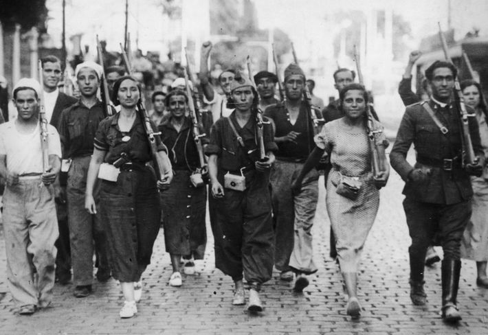Combatentes da milícia republicana