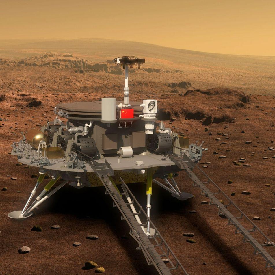 Sonda chinesa aterrou em Marte
