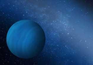 Concepção artística do planeta gigante do sistema solar.