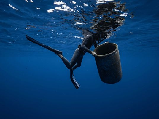 Nadar na Grande Ilha de Lixo do Pacífico