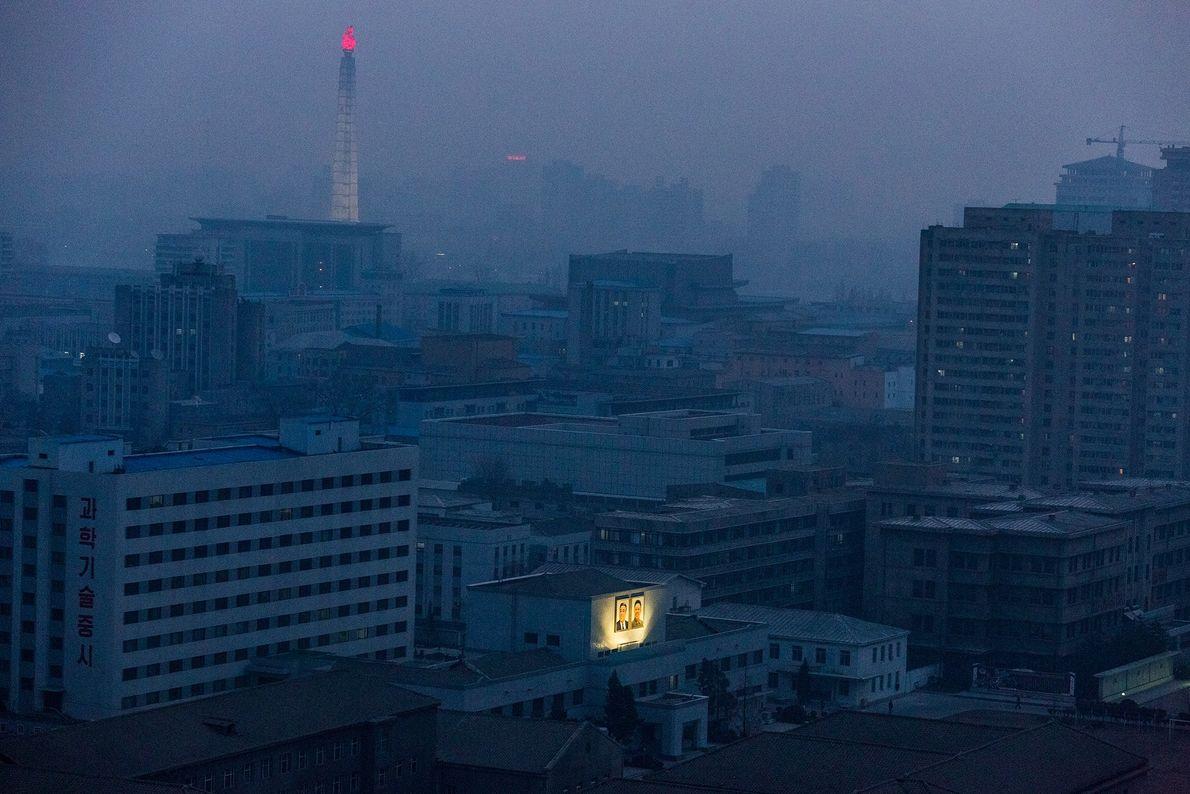 O recente ginásio e centro de culturismo de Pyongyang