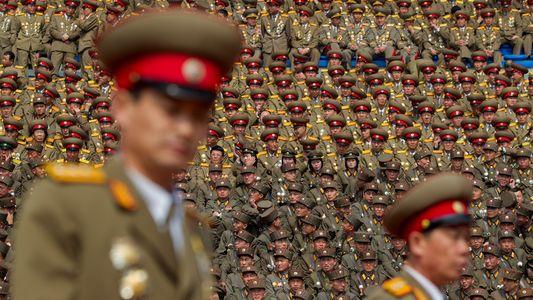 Fotografias de Militares da Coreia do Norte