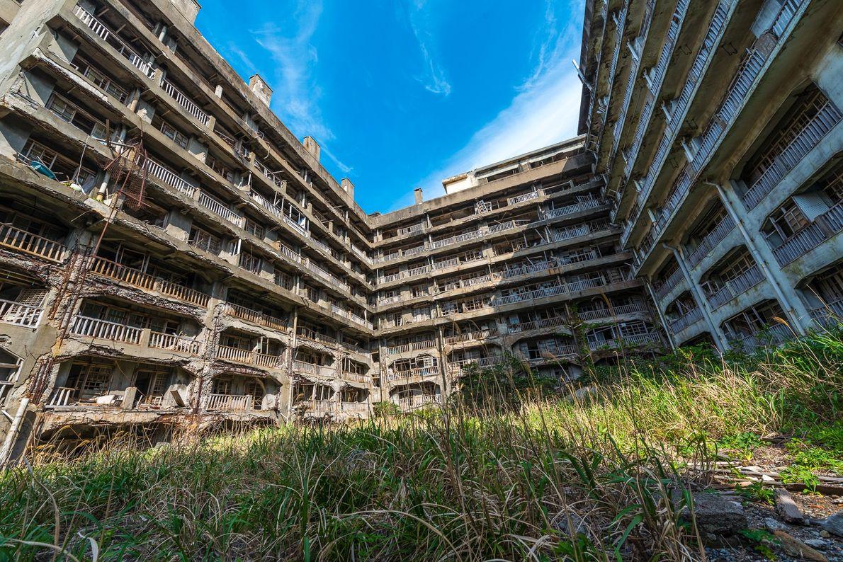 Apartamentos em ruínas, Hashima.