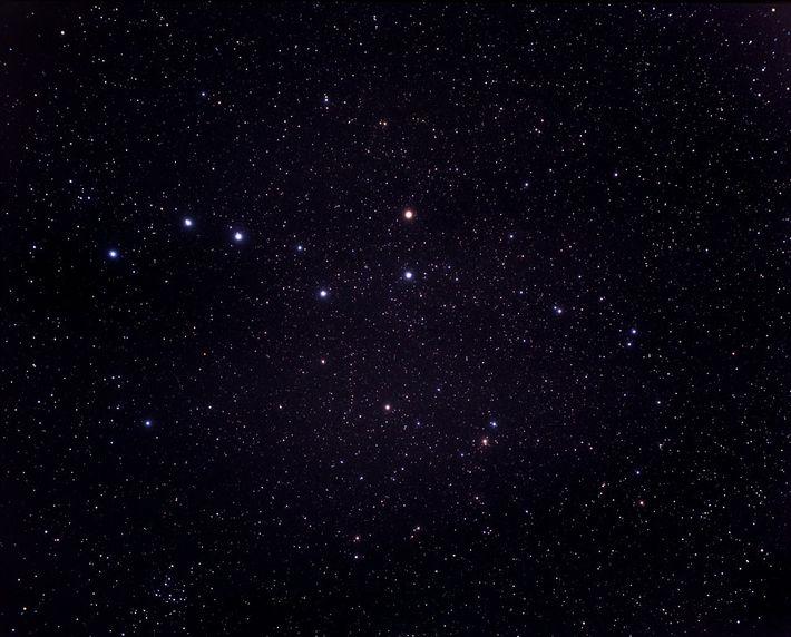 Fotografia com câmara da constelação Ursa Maior