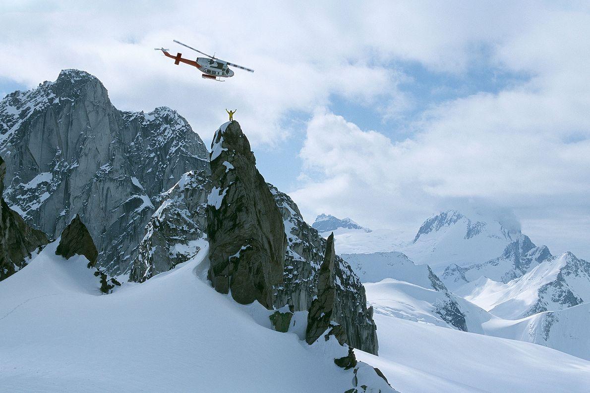 heliesquiador topo montanha