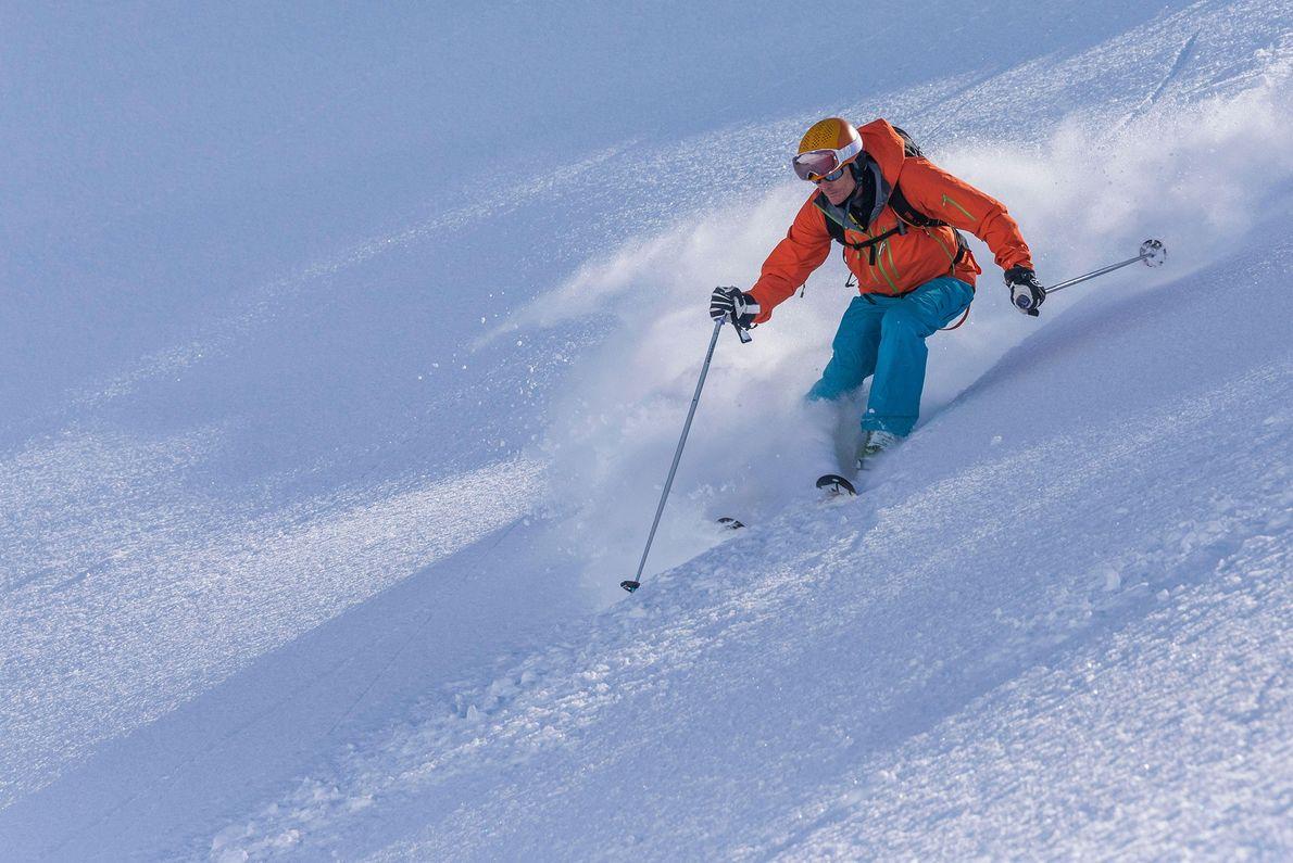 esquiador Islândia