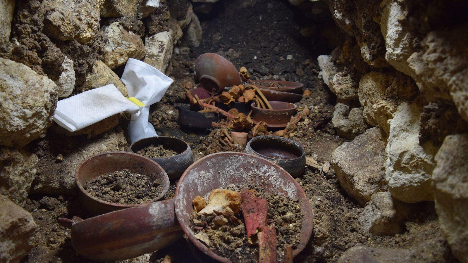 Máscara De Antigo Rei Maia Encontrada Durante Escavações