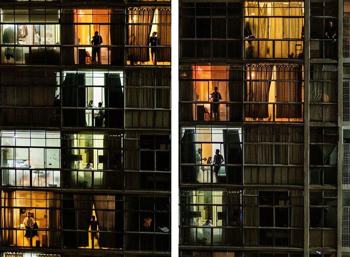 habitantes do edifício Copan em São Paulo