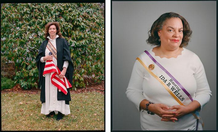 Elizabeth Cady Stanton e Ida B. Wells foram figuras importantes no movimento sufragista feminino nos EUA, ...