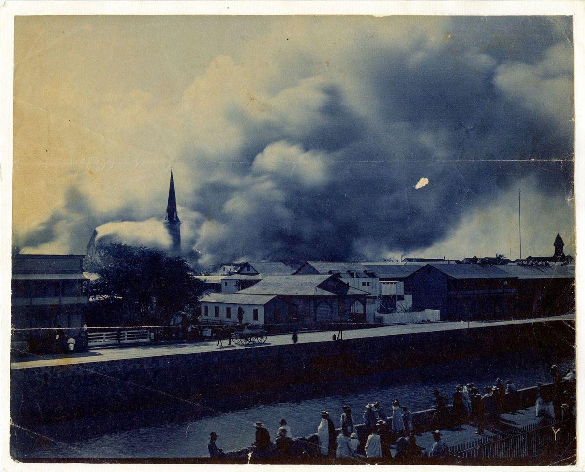 INCÊNDIO EM CHINATOWN DE HONOLULU, 1900