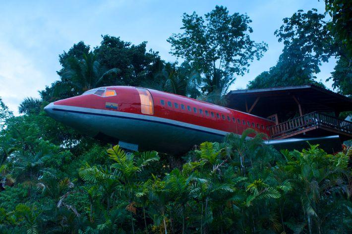 Os hóspedes do Hotel Costa Verde podem dormir num Boeing 727.