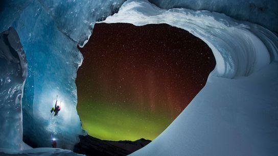 Escalada num Glaciar, Alberta, Canada
