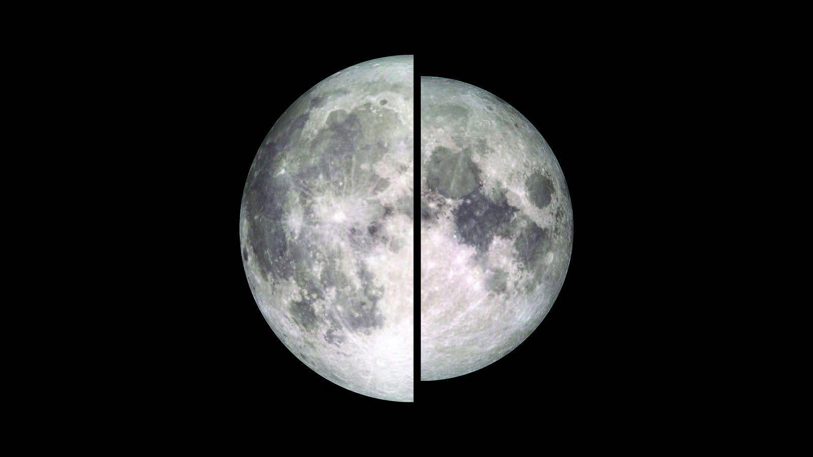 Comparação entre uma Superlua e uma Lua Cheia normal.
