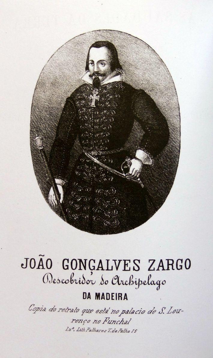 João Gonçalves Zarco, Descobridor da Madeira, cópia do retrato que está no palácio de S. Lourenço ...