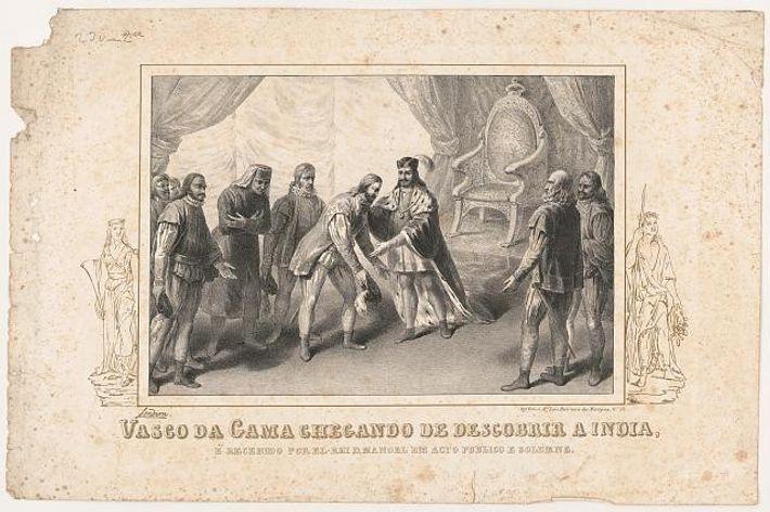 Vasco da Gama após a sua viagem à Índia.