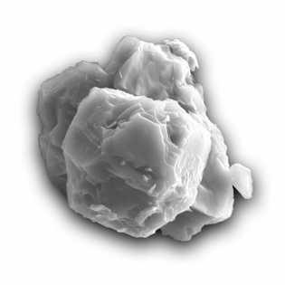 Esta imagem de microscópio eletrónico de varrimento mostra um dos grãos datados neste estudo. No seu ...